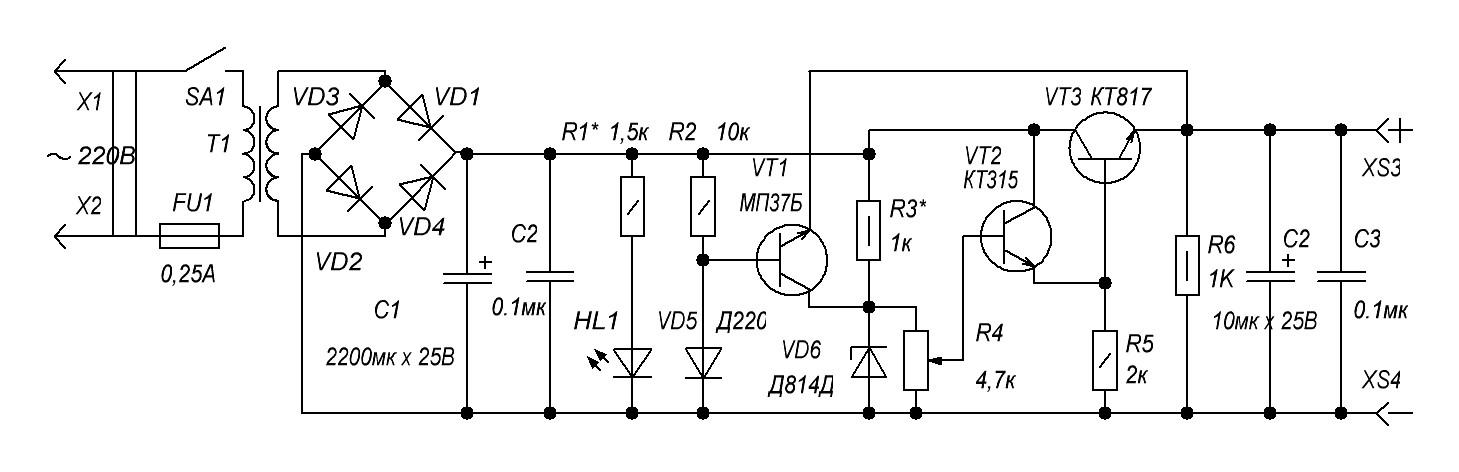 Cайт кружка радиоэлектроники бп 0. 5 12 в с защитой от кз.